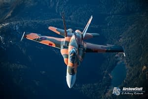 2015 CF-18 Hornet Demo Team Battle of Britain Scheme - Air to Air Over British Columbia