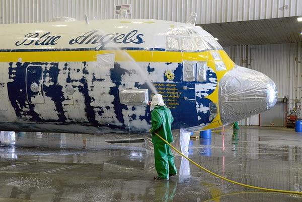 US Navy Blue Angels - Fat Albert C-130 Hercules - Paint Stripped
