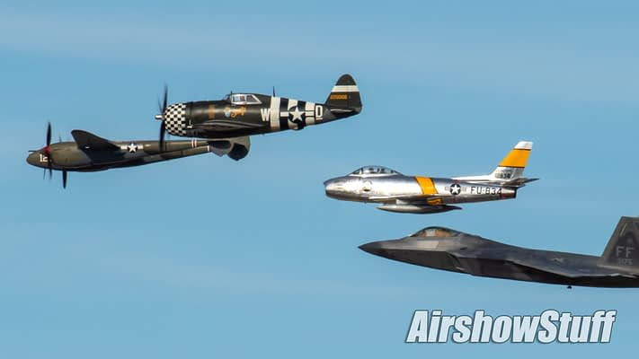US Air Force Heritage Flights Will Be Longer This Airshow Season