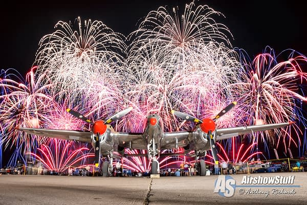 P-38 Lightning and Fireworks - EAA AirVenture Oshkosh 2015