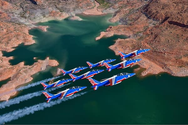 Patrouille de France Fly Over Lake Powell