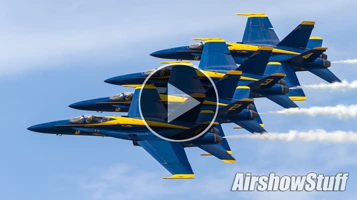 WATCH:  Blue Angels Wow The Crowd With Their Legendary High Show