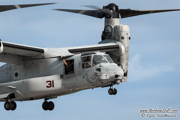 2018 USMC MV-22 Osprey Demonstrations Schedule Released