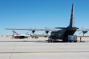 Thunderbird 14 Support Aircraft Unloading