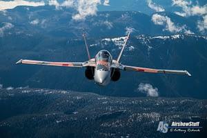 2015 CF-18 Hornet Demo Team Battle of Britain Scheme - Air to Air Over British Columbia
