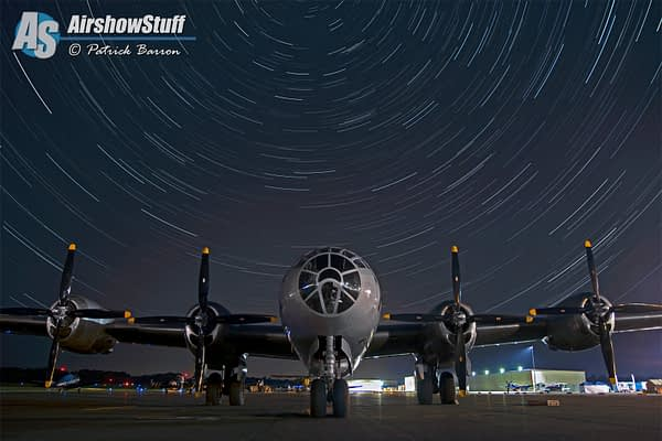 """B-29 Superfortress """"Fifi"""" Star Trails - Heavy Bombers Weekend 2015"""