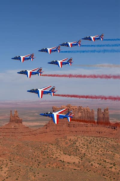 Patrouille de France Fly Over Monument Valley