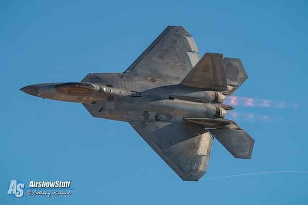 Chennault International Airshow (Lake Charles, LA) Trades F-16 Demo For F-22 Demo
