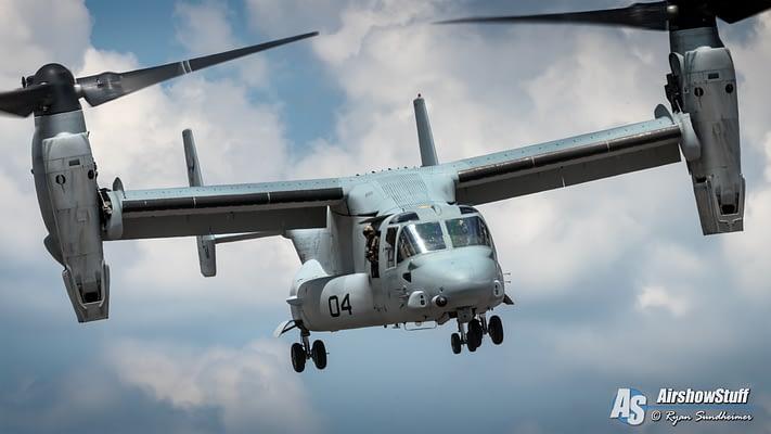 2019 USMC MV-22 Osprey Demonstrations Schedule Released