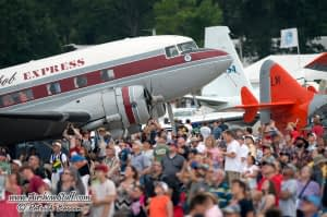 DC-3 and Crowd - EAA AirVenture Oshkosh 2014