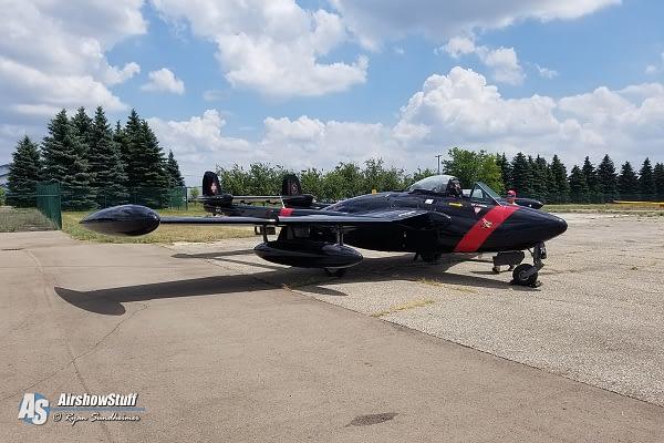 Marty Tibbitts Killed In DH-112 Venom Crash - Sheboygan WI