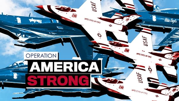 Operation America Strong - USAF Thunderbirds and US Navy Blue Angels - AirshowStuff