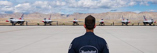 Thundebirds Line Chief Overseeing Launch Procedures