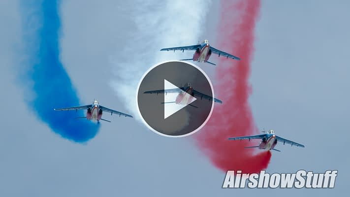 WATCH: Patrouille de France Performs In The US For The First Time In Decades