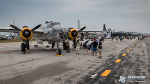 WWII Bomber Static Displays - Thunder Over Michigan 2015