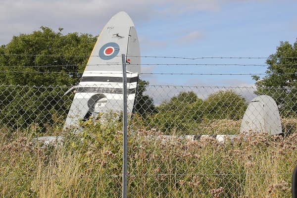 Pilot OK After Spitfire Crashes At Biggin Hill After Losing Power On Takeoff