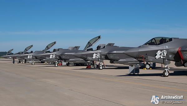 F-35 Lightning IIs at Northern Lightning 2020 - AirshowStuff