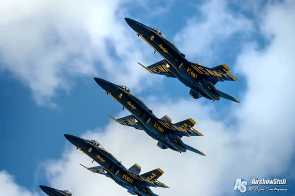 Former Blue Angel Explains Super Hornet Transition Plans, Talks New Routine