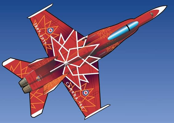 Stunning 2017 CF-18 Hornet Demonstration Team Paint Scheme Unveiled