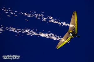 Dan Buchanan in his hang glider.
