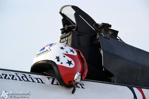USAF Thunderbird Helmet - Airpower Over Hampton Roads