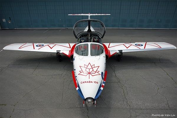 """Canadian Snowbirds Debut Special """"Canada 150"""" Paint Scheme"""
