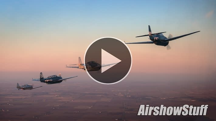 WATCH:  Classic Warbird Sunset Flight – Ride Along With Six TBM Avengers!