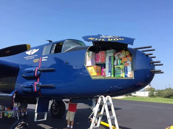 B-25 Devil Dog Aids Harvey Relief