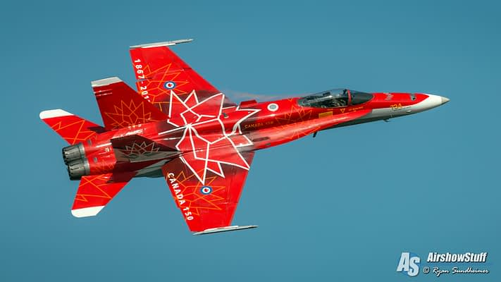 Canadian Forces CF-18 Hornet Demonstration Team 2019 Schedule Released